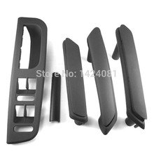 5pcs Black Interior Door Handle With Trim 3B4867371 3B4867372 fit VW Passat B5 3B4867179A 3B4867180A 3B0867180A 3B0867172(China)