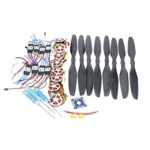 JMT 8-Axis Foldable Rack RC Helicopter Kit KK Connection Board+350KV Brushless Disk Motor+15x5.5 3K Propeller+40A ESC