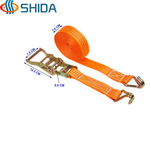 1 Set 1.5 inch 3.8 cm x 1.5 - 12 Meters Steel Cargo Lashing Strap Ratchet Tie Down with Hook Polyester Webbing Sling(China)