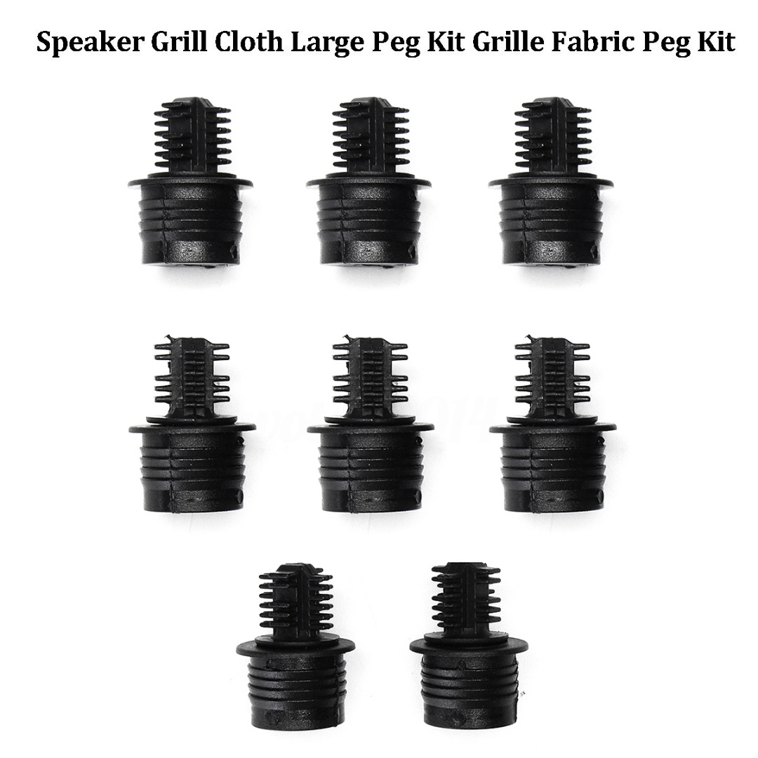 Onsale 8pcs Speaker Grill Cloth Large Grille Pegs + Sockets Fabric Fastening Kit Mayitr