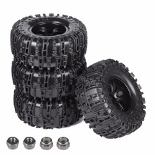 4Pcs 155mm RC Tires Wheel Rims Foam Inserts For 1:10 Monster Truck Tyres HSP HPI Traxxas Himoto Redcat Kyosho Tamiya Racing Losi