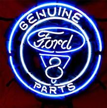 "Business Custom NEON SIGN board Forautomobile Ford V8 Motor Company REAL GLASS Tube BEER BAR PUB Club Shop Light Signs 16*15""(China)"