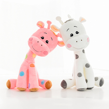 Cute Ty Plush Giraffe Stuffed Toy Animal Soft Toys Doll Baby Kids Dolls Sleep Pillow Christmas Halloween Girls Gifts 50T0114(China)