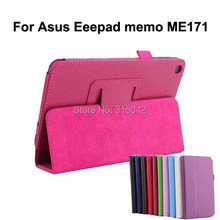 High quality lychee PU leather stand cover for Asus Eee Pad MeMo ME171,PU Leather protective cover for Asus me171
