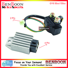 GY6 50cc 150cc Regulator and Start Solenoid Relay Chinese Scooter Parts ATV Parts Znen Baotian Taotao Icebear Free Shipping