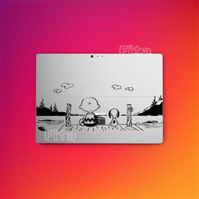 Cartoon Back Cover Film For Microsoft Surface Pro 4 Protective Skin Silver Sticker(China)