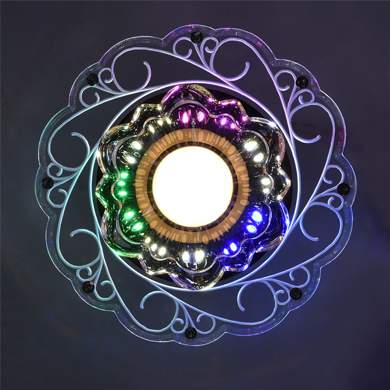 5W Colorful lampshade crystal ceiling light bedroom/foyer ceiling light round led home decoration lamps modern acrylic lamp<br><br>Aliexpress