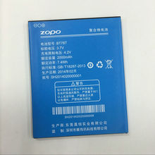 Original ZOPO ZP980+ Battery BT78S BT78T 2000mAh for ZOPO C2 C3 ZP980 mobile phone Backup batteries In Stock+Tracking number