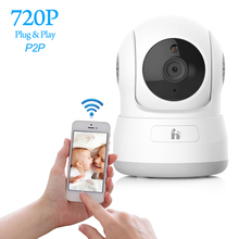 H Free Shipping HD 720P IP Camera P2P Wifi Wireless Baby Monitor Security Camera with Night Vision Micro SD Card slot(China)