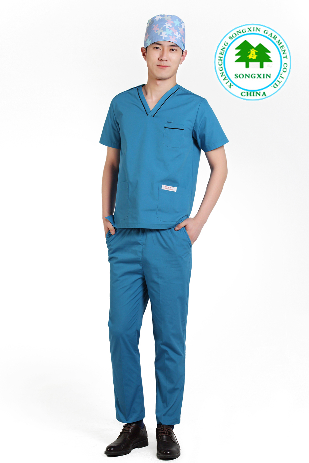 Free Shipping OEM uniformes hospital scrub sets hospital workwear medical scrub suit uniforme medico hot sale for summer(China (Mainland))