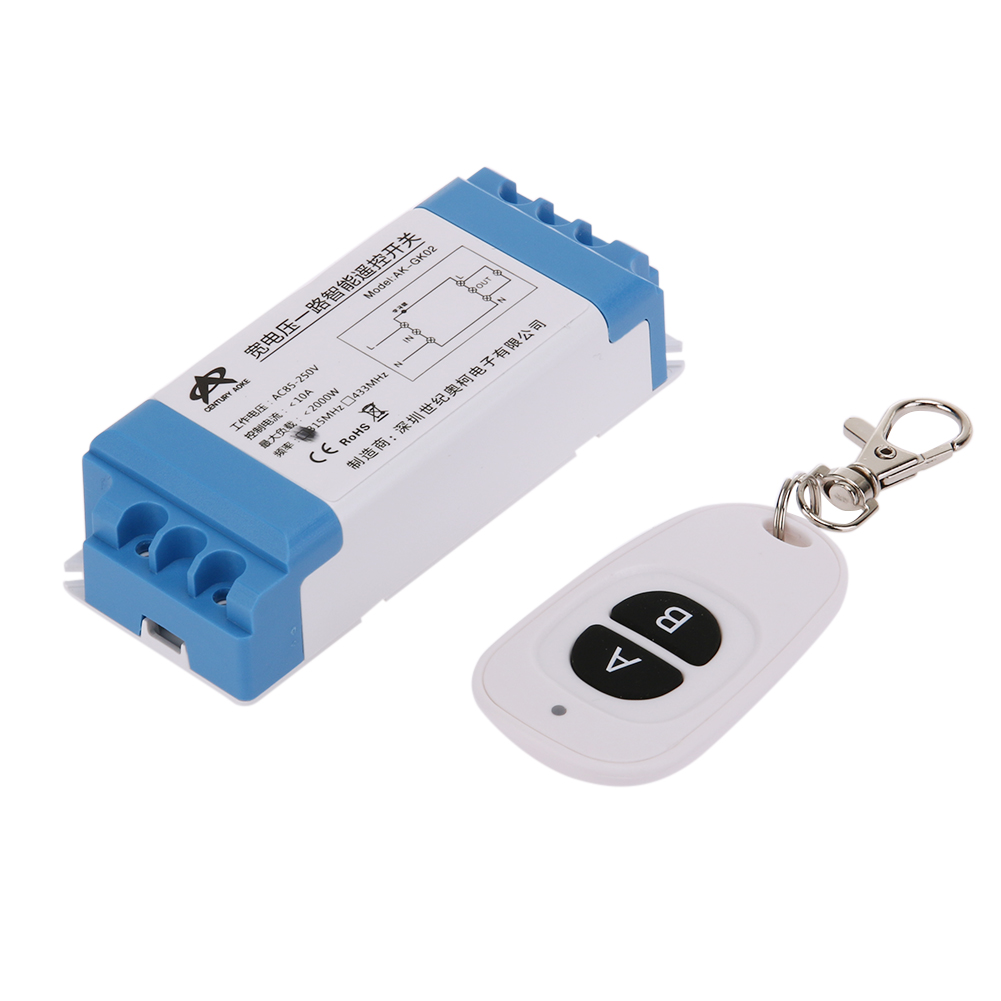 220V 433 Mhz Wireless Remote Control Switch Learning Code Remote Controller Waterproof Single Channel for garage door Cabinet(China (Mainland))