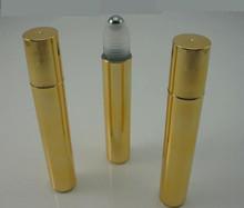 3ps parts FREE + 15 ml, 12 ps, golden plating, Plastic, Stainless Roll On Ball, Perfume Aromatherapy Bottle
