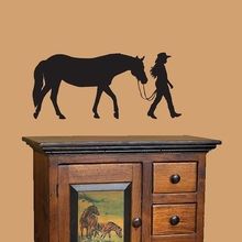 "Horse and Rider vinyl wall decal stickers.....36x16"" (90x40cm) Free shipping Horse wall decor P2031(China)"