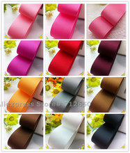 1'' (25mm) Solid Grosgrain Ribbon double face Tape Hairbow garment bag shoe accessory gift wrap bakery pack material 10 yards(China)