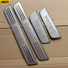 LARATH Free shipping for kia SportageR door sill stainless steel scuff plate threshold sticker accessories 4 pcs(China)