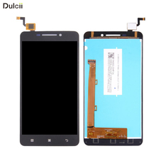 DULCII For Lenovo A5000 A 5000 OEM LCD Screen and Digitizer Assembly Replace Part Mobile Phone Touch Display Repair Parts(China)