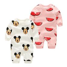 2017 spring summer baby clothing cartoon baby girls rompers 100% cotton infant  boy clothes newborn wear babies jumpsuit product