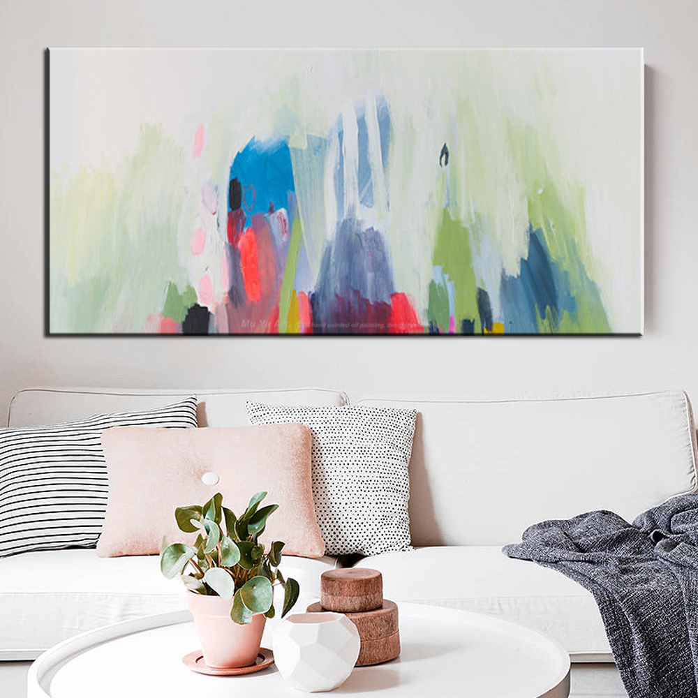 MUYA acrylic paints cheap modern paintings living room pictures on ...