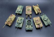 glue free 1:72 World War II military tank assembly model, eight tank combat intelligence toy.