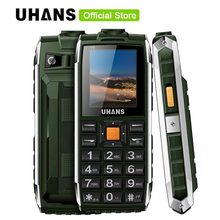 Uhans V5 Waterproof phone Power GSM shockproof cell phone Dual sim 2500Mah power baby Big box speaker Flashlight Mobile phone