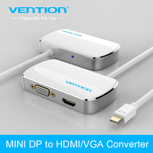 Vention 2 in 1 Mini DP DisplayPort To HDMI VGA Adapter Conventer Cable for Apple MacBook Air Pro iMac Mac HDTV projector(China)