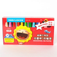 12/18/24/36/48 Colors/Set Oil Pastel Crayons Hexagonal Design Water Wax Crayons for Kids Drawing Tools for Art Supplies