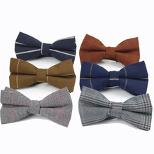 High Quality Mens Bow Tie Flexible Bowtie Smooth Necktie Soft Strip Butterfly Decorative Pattern Solid Color Ties