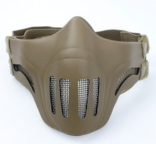TMC Ghost Recon style Mesh Face Mask ( DE ) Strike Half Face Steel Wire Mask Free shipping(China)