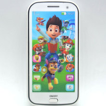 4D Baby Toy Phone Kids Mobile Toy Touch Screen Learn English with Song Light Story Telling Educational VocalToys for Baby(China)
