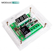 Clear Acrylic Case Shell Housing For W1209 Digital LED DC 12V Temp Thermostat Temperature Control Switch Module Controller Board(China)