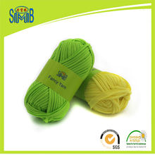 Jingxing oeko tex fancy ribbon yarn manufacturer, hand knitting spaghetti yarn, 50g skeins hand craft 100 cotton T shirt yarn(China)