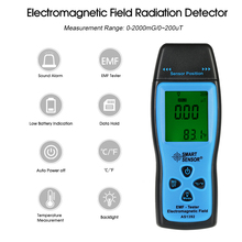 Handheld Digital LCD radiation dosimeter Mini EMF Tester Electromagnetic Field Radiation Detector Dosimeter Tester Meter Counter