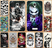 Buy Painted Phone Case Fundas Lenovo A1000 1000 Case Cover Colorful Skull Cool Head Painting Cover Skin Shell Hood Capa Para for $1.49 in AliExpress store