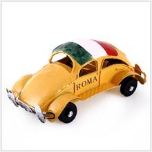 Hot  New   Children Toys  wrought iron retro style fashion refined Colour car Metal Craft Children gifts free door