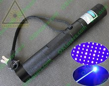 450nm 1000mW (1W-2Watt) focusable burning true blue laser pointer torch with star cap and safety key   FREE SHIPPING