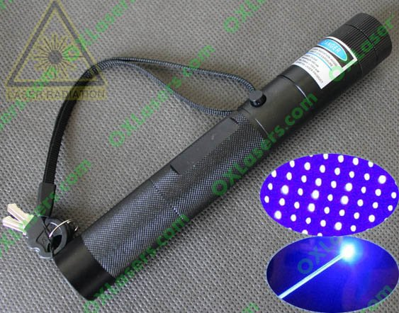 450nm 1000mW (1W-2Watt) focusable burning true blue laser pointer torch with star cap and safety key   FREE SHIPPING<br><br>Aliexpress