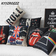 Rock&Roll music band The Beatles Pink Floyd The Who Rolling Stones The Union Jack cushion cover throw pillow case seat cushion