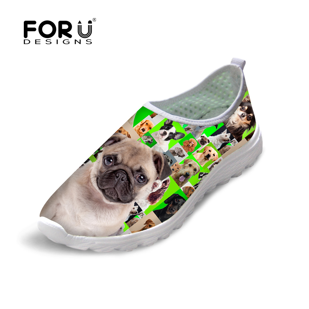 FORUDESIGNS Womens Summer Casual Mesh Shoes 3D Cute Pet Dog Pattern Ladies Lazy Shoes Flats Lightweight Slip-on Shoes For Women<br><br>Aliexpress