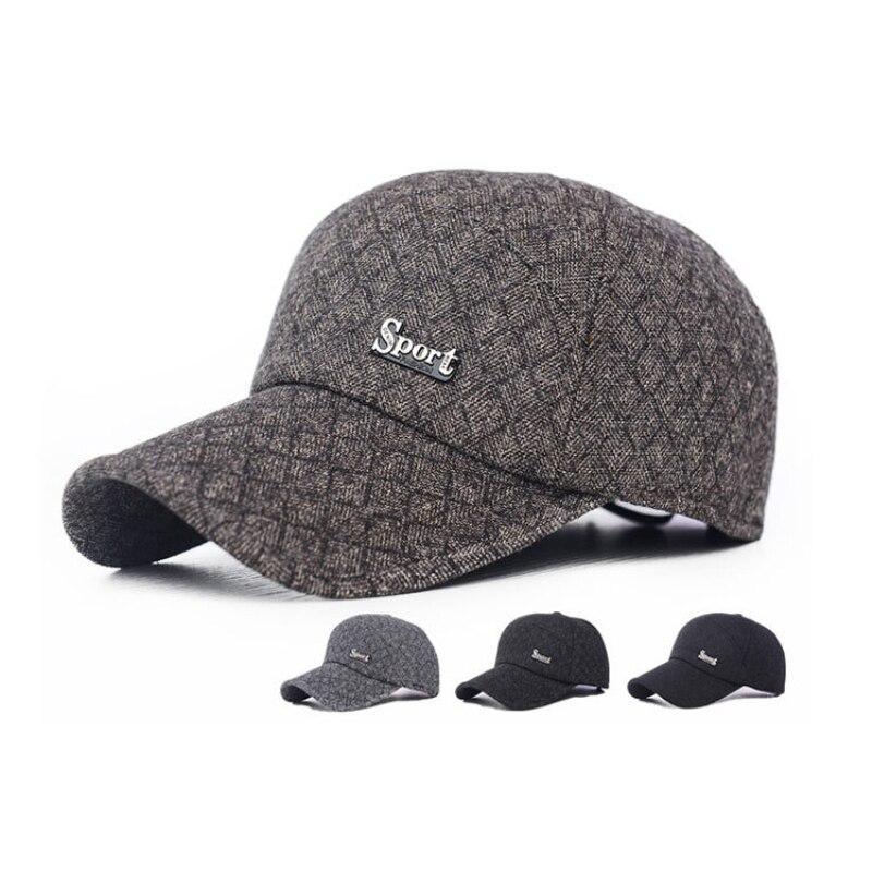 HT704 Fashion Winter Baseball Caps Hats for Men Casual Outdoor Sport Cap Wool Felt Winter Autumn Gorras Snapback bone aba reta<br><br>Aliexpress