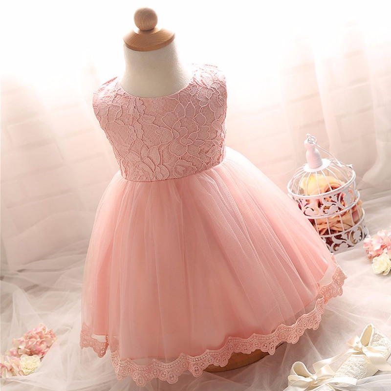 2017 Soft Tutu Baby Party Dress First Communion Baptism Infant Girl Clothes Kids Toddler Princess Dresses for 0-8Y Flower Girls<br><br>Aliexpress