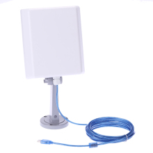 Outdoor 2000MW High Power Long Range150Mbps USB Wireless N WLAN WiFi Adapter Signal Booster with16dBi High Gain Antenna 5m Cable