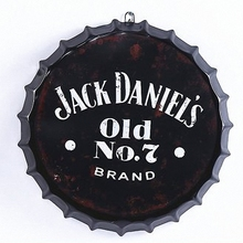 JACK DANIEL'S OLD NO. 7 3D Beer Cover Tin Sign Logo Plaque Vintage Metal Painting Wall Sticker Iron Sign Bar KTV Cafe Decor(China)