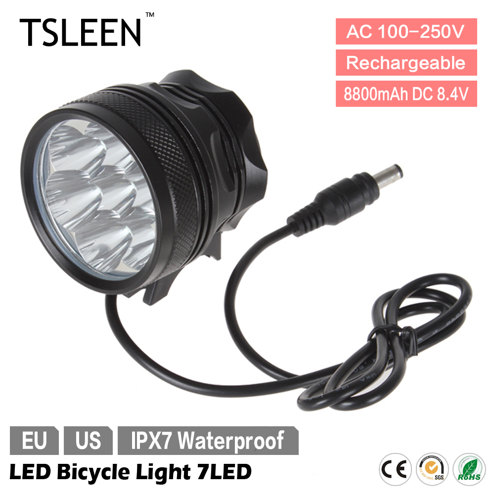 49% off TSLEEN 7*XM-L T6 8400 Lumens Mountain Cycling Bike Headlamp LED Bicycle Light Pack<br><br>Aliexpress