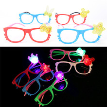 1PCS Hot Sale Funny Glasses Gift Night Party Fancy Novely Shine Beach Sunglasses Holiday Party Favors Gifts Random Color