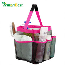 LemonBest Mesh Fabric Quick Dry Shower Tote Storage Bag Bath Organizer Handbag For Bathing Bathroom Accessories 3 Colors(China)
