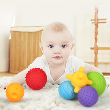 meibeile 6Pcs/Set Colorful Baby Balls Toys touch hand ball baby Learning Grasping Soft Ball with Textures Dia 5.5 7cm Education(China)