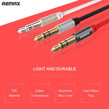 Remax Audio Cable 3.5 jack to jack AUX Cable Car for iPhone 3.5mm Male to Male Stereo Flat Headphone Beats Speaker AUX Cable