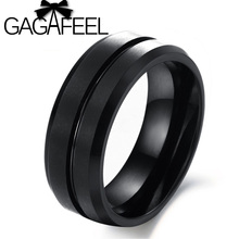 GAGAFEEL Latest and Best fashion men jewelry Retro Style tungsten steel ring black tungsten rings for men Free shipping TCR227
