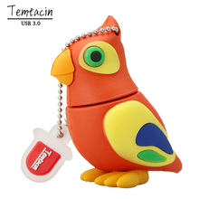 100% USB 3.0 Genuine USB Flash Drive Cartoon Animal Parrot Bird Memory Stick Pen Drive 4G 8GB 16GB 32GB 64GB PenDrive Hot Sale(China)