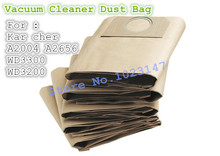 (5 pieces/lot ) Vacuum Cleaner Bags Dust Bag Filter Paper Bag For Karcher A2204 A2656 SE4001 WD3200 WD3300